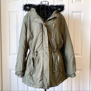 NWT Ambiance outerwear green winter coat sz 2X